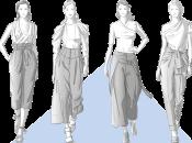 Vintage-Schnittmuster: Weite Hosen im Vintage-Look wie High-Waist-Marlenehosen, Paperbag-Hosen und Culottes finden ihr Comeback in der Modewelt.