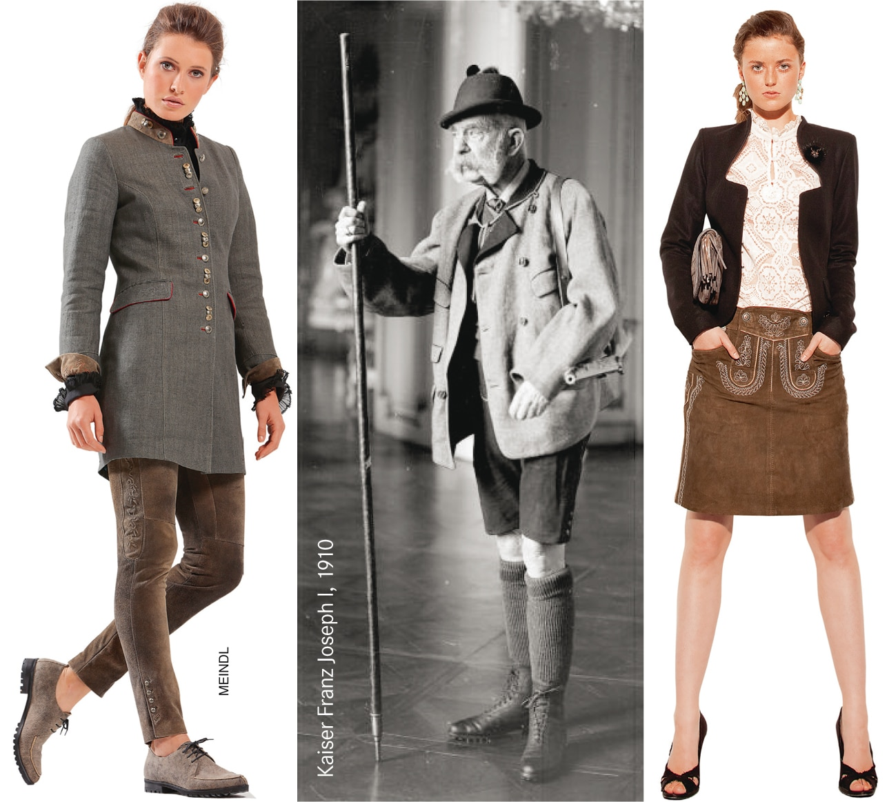 Verschiedene Varianten der Lederhose