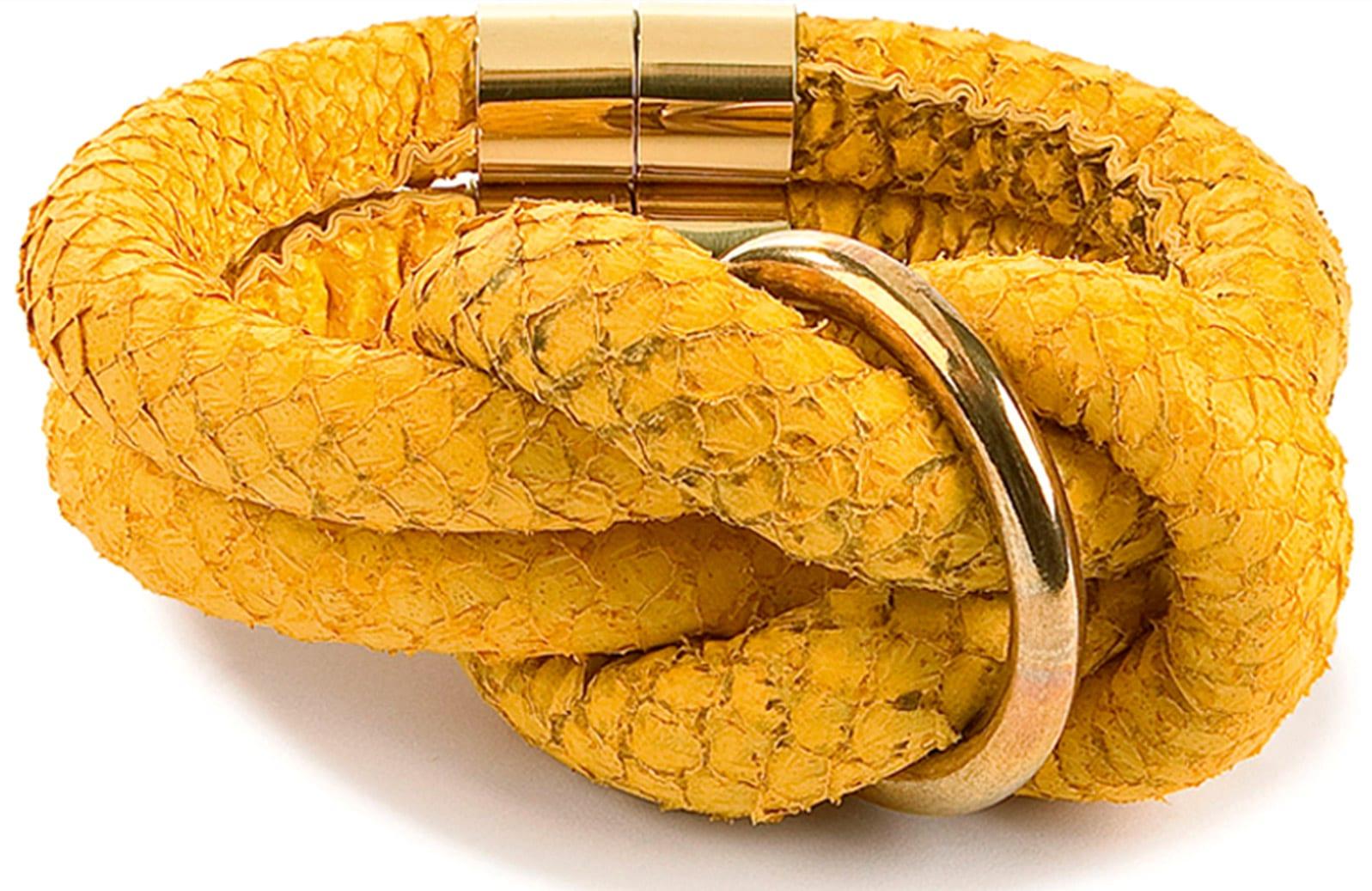 Knotenschmuck - Armbänderaus Lachsleder von Jana Keller