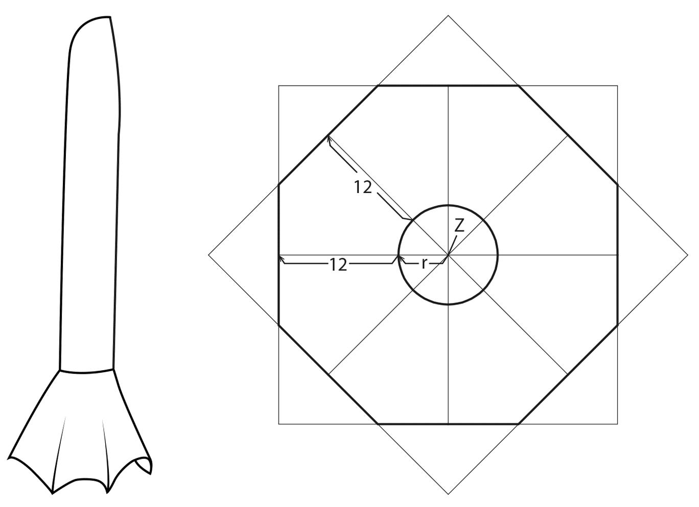 Technische Zeichnung und die Schnittkonstruktion der Aufstellung eines Tellerärmels ist zu sehen