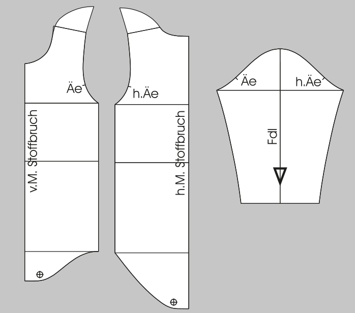 Fertige Schnittteile Langarmbody für Kinder Größe 74