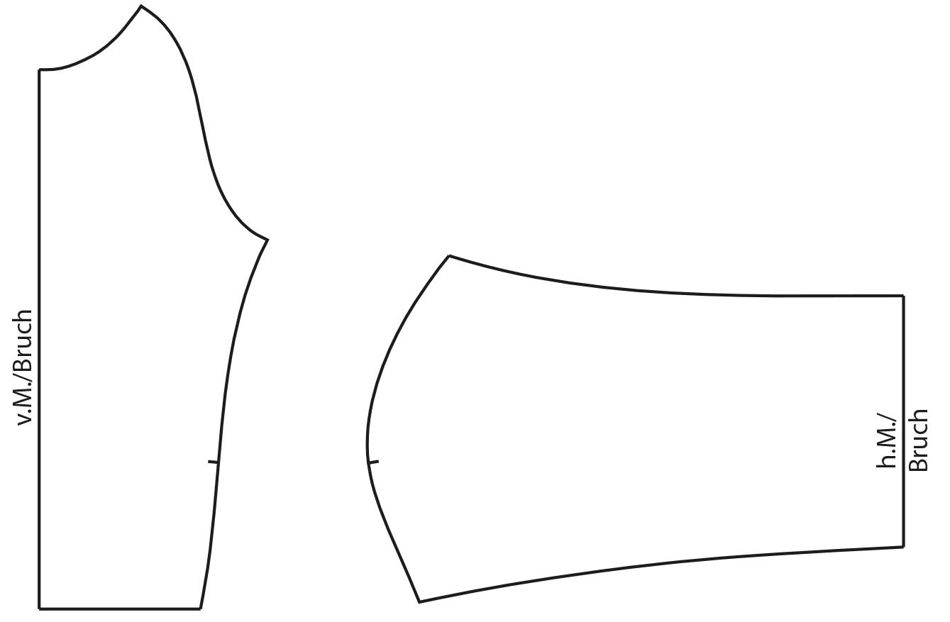 Die Fertigstellung des Vorderteils für den Sportswear Bikini ist zu sehen.