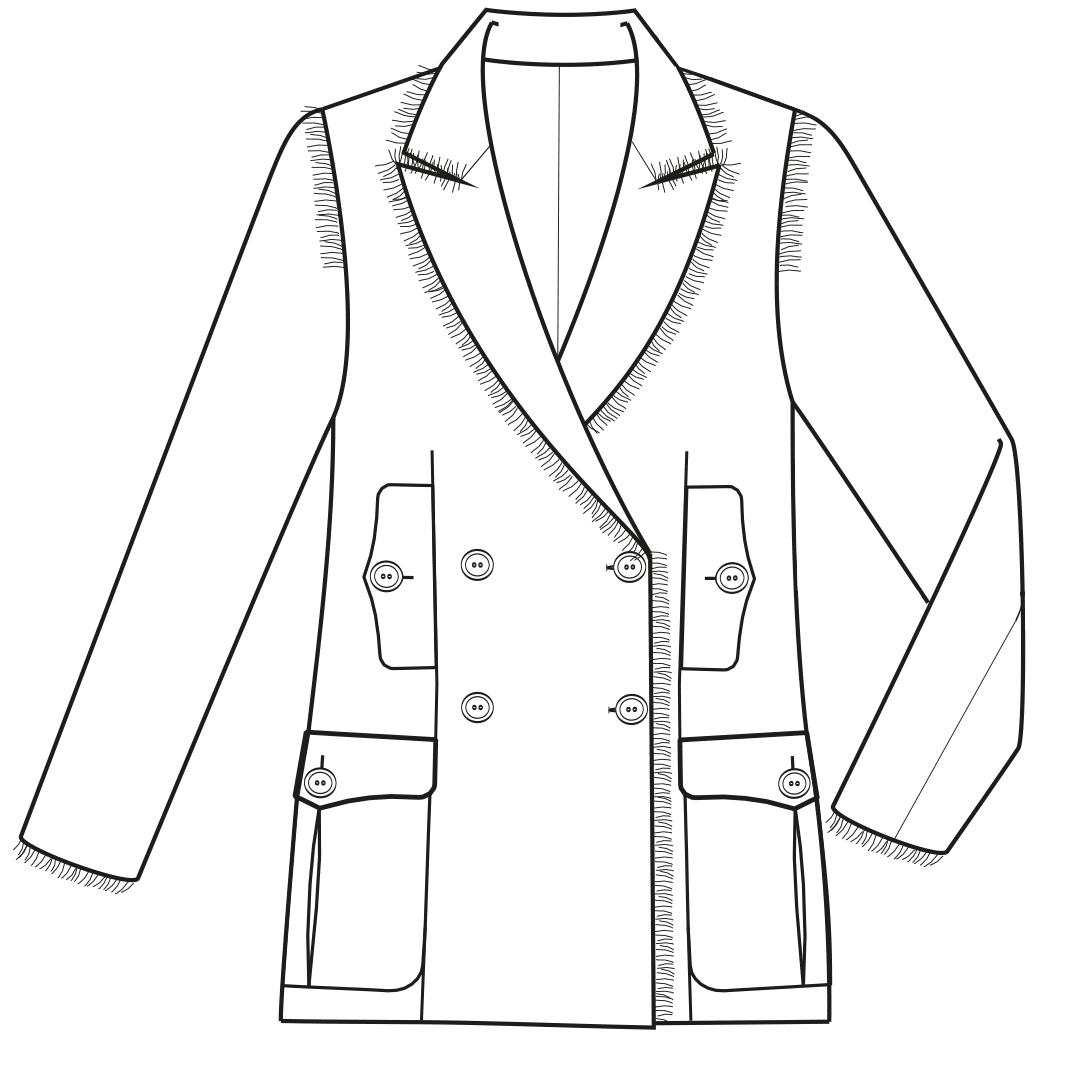 Technische Zeichnung Couture Jacke