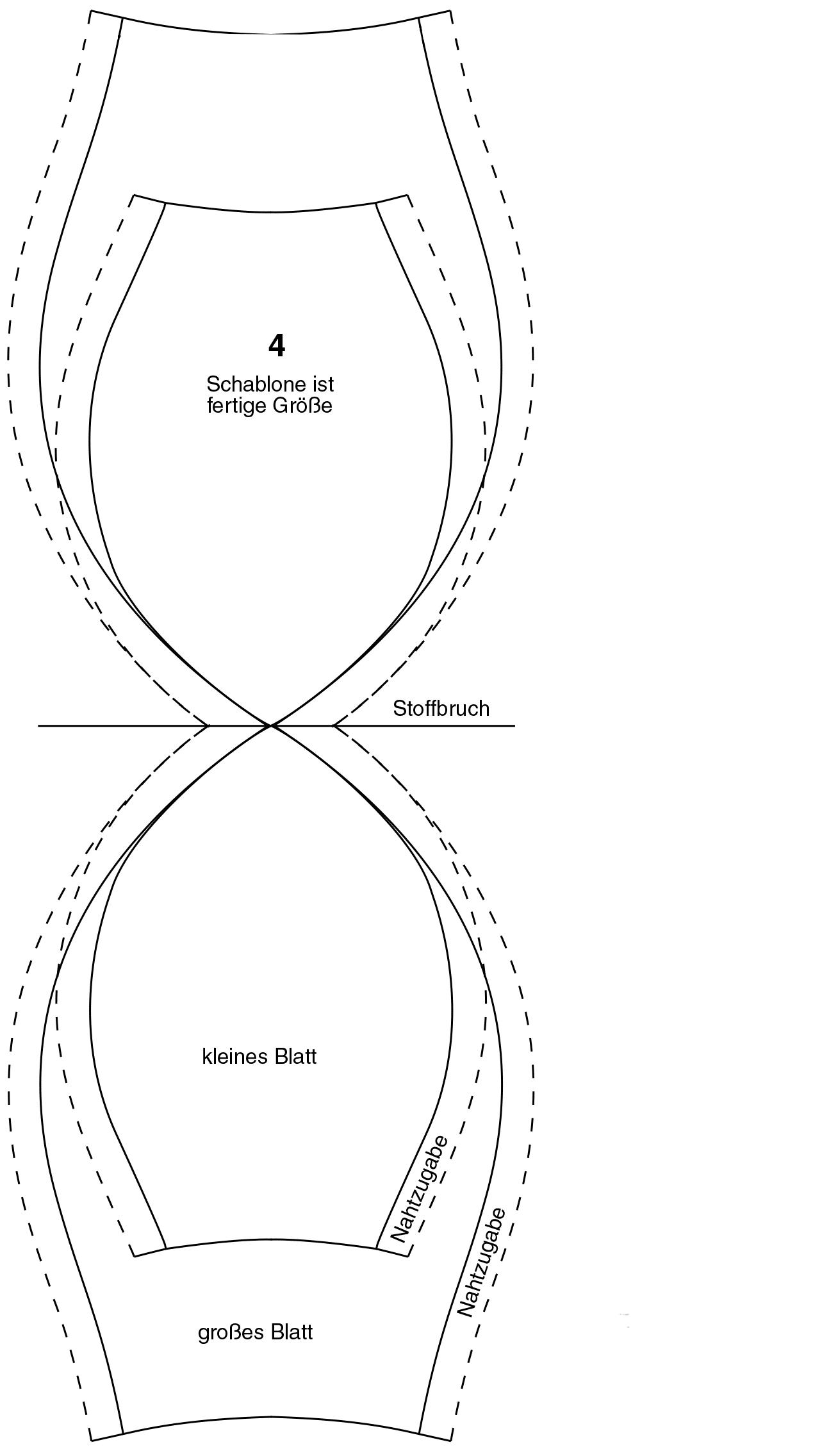 Gezeigt wird die Schnitttechnik für eine Gefüllte Rose zum Nähen als Dekoration.