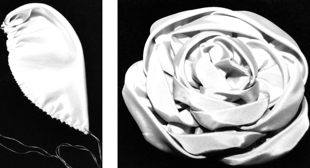 Gezeigt wird die Fertigung einer handgenähten Rose per Hand.