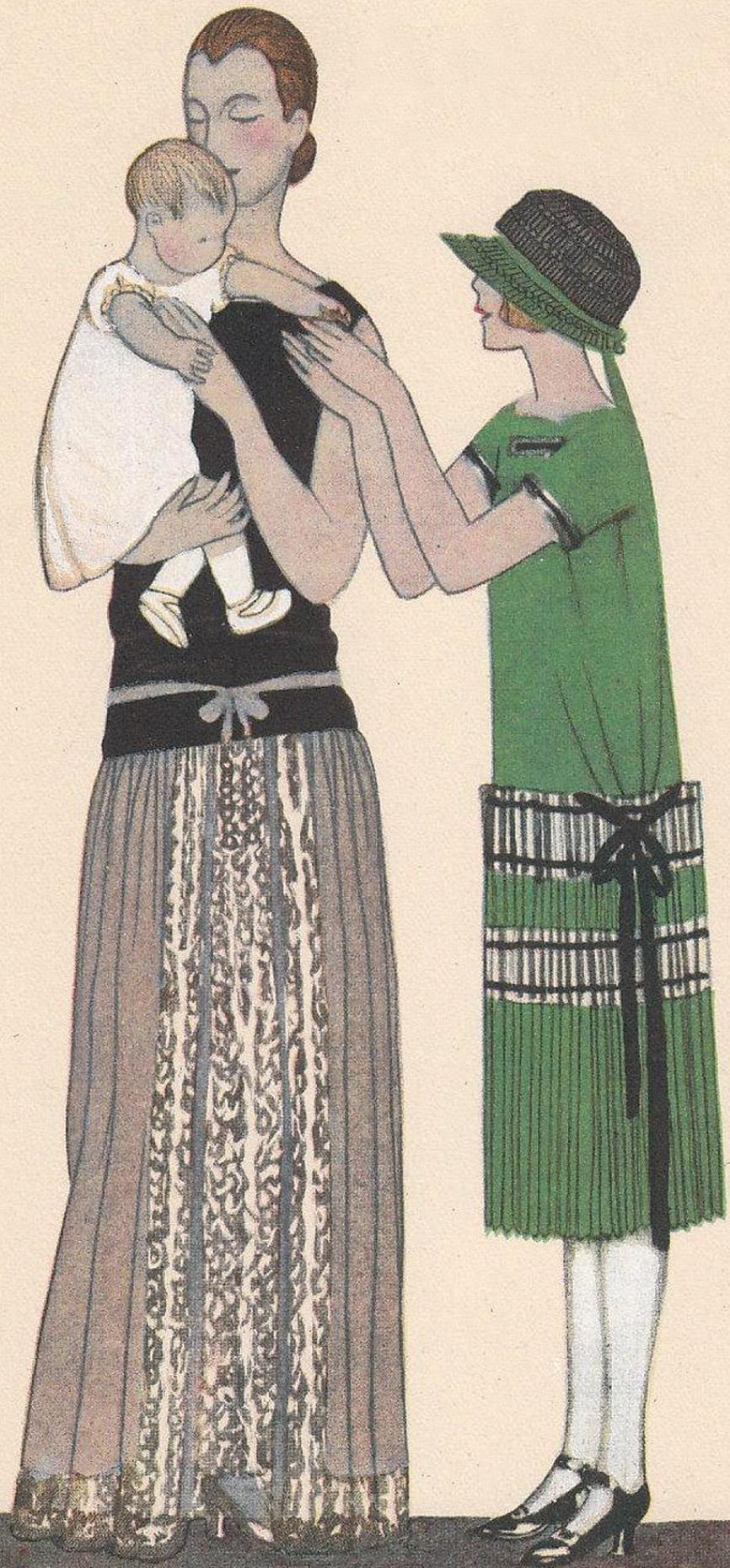 JEANNE LANVIN Haute Couture Paris 1922, plissierte Hänger-Kleider