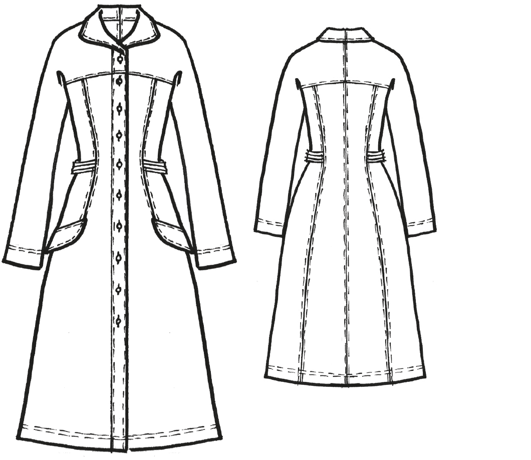 Kleid mit Passenraglan