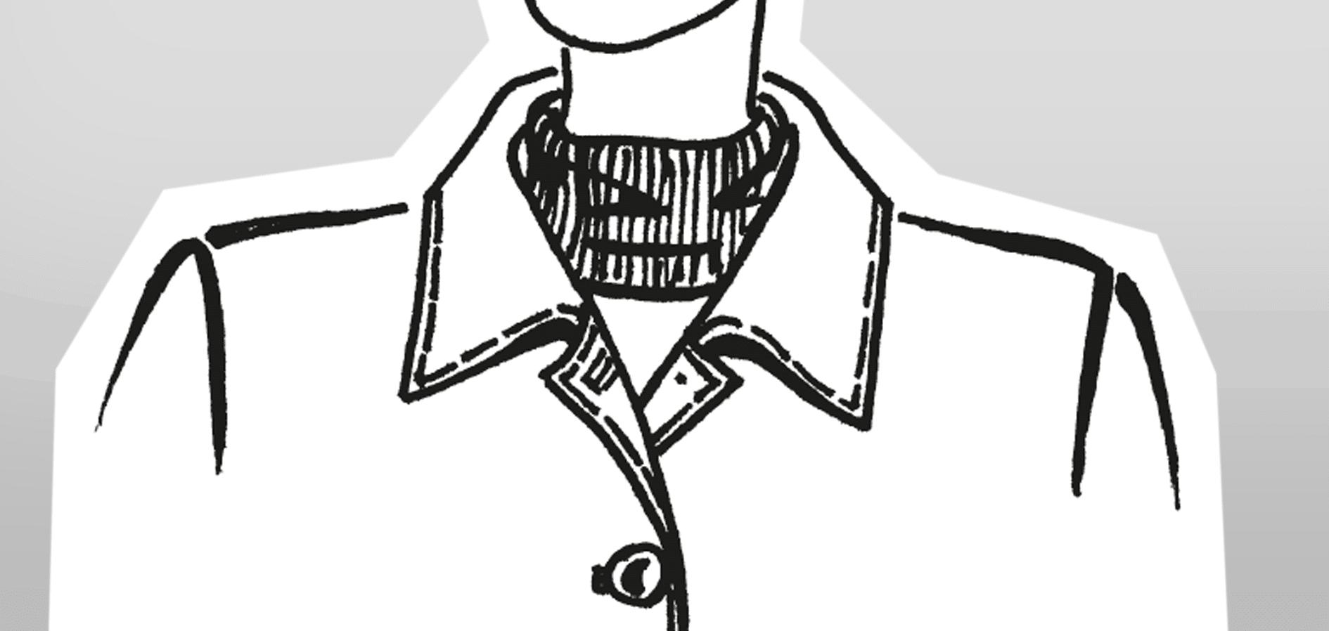 Zu sehen ist die technische Zeichnung eines Liegekragens mit Winkelkonstruktion aufgestellt.