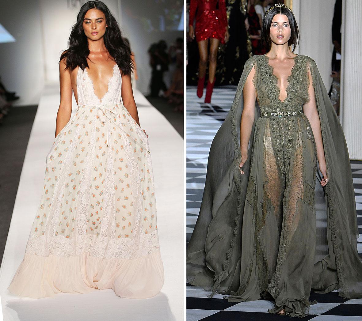 Das Foto zeigt eine Models in Lingerie Kleidern