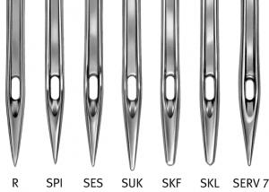 Eine Auswahl an verschiedenen Nadelformen und Nadelstärken.