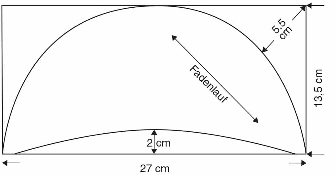 Abgebildet ist die Schnitttechnik eines Schulterpolsters.