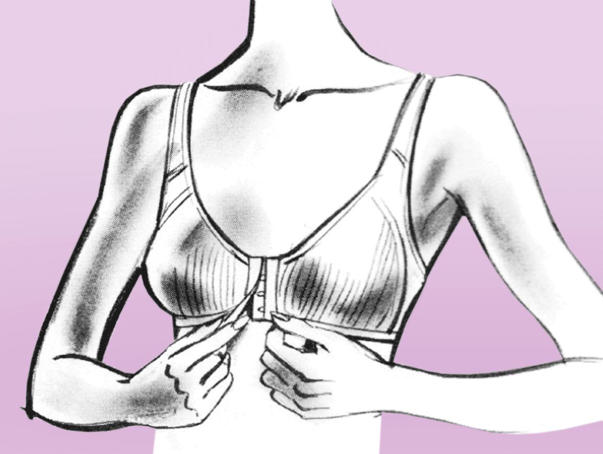 Sport BH: damit die Beweglichkeit nicht eingeengt wird, stützen Cups die Büste ganz und die BH-Träger verlaufen oft zwischen den Schulterblättern.