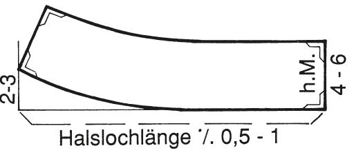 Abgebildet ist die Schnitt-Technik eines Stehkragens