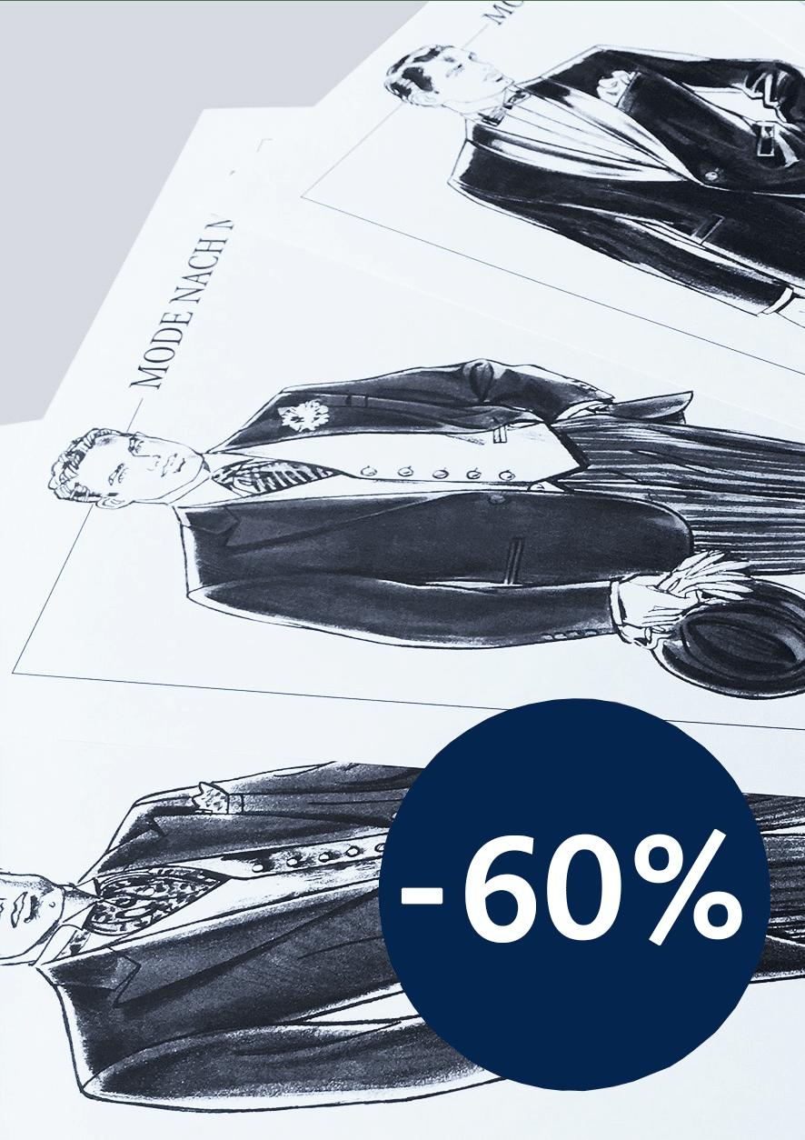 Produkt: Gesellschaftskleidung – Skizzenblätter