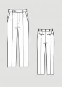 Produkt: Schnittmuster HAKA Grundschnitt Bundfaltenhose