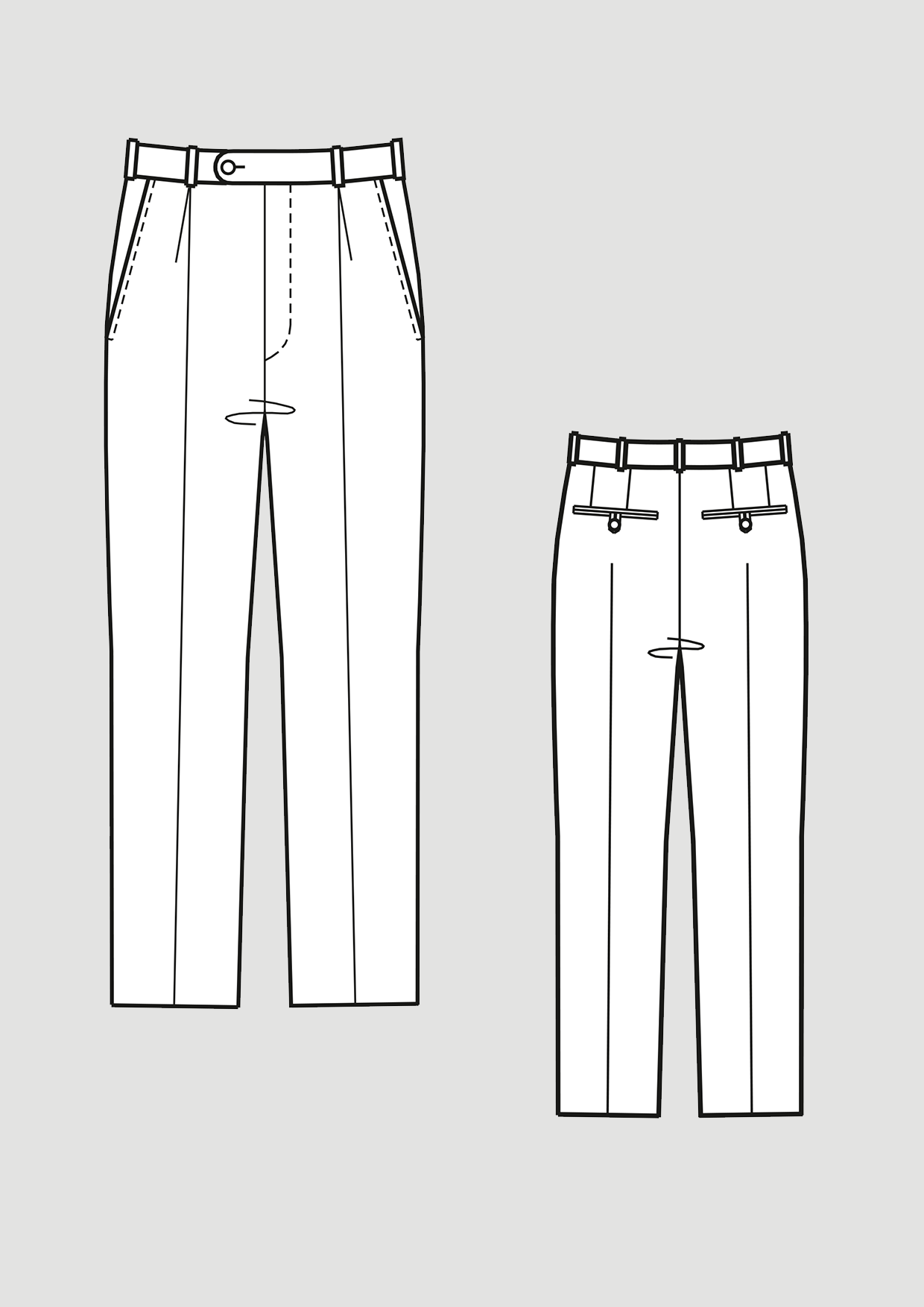 Produkt: Schnittmuster Grundschnitt Bundfaltenhose