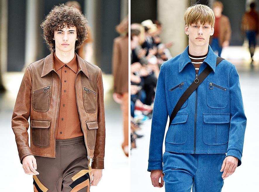 Jacken mit Reißverschlusstaschen auf dem Laufsteg