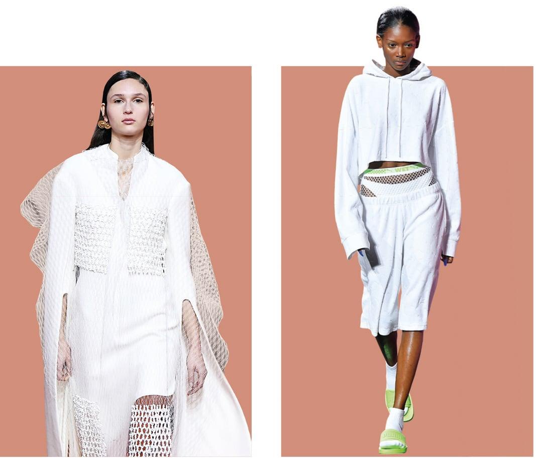Zu sehen sind zwei Models in Kleidern passend zu den Farbtrends 2019.