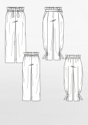 Produkt: Schnittmusterbogen Paperbag-Hosen