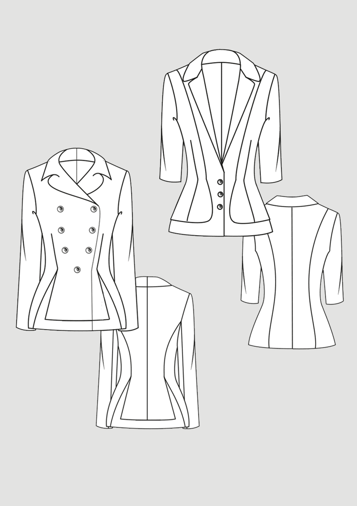 Produkt: Schnittmuster Taillierte Jacken