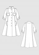 Produkt: Schnittmusterbogen Trapezkleid mit Stehkragen