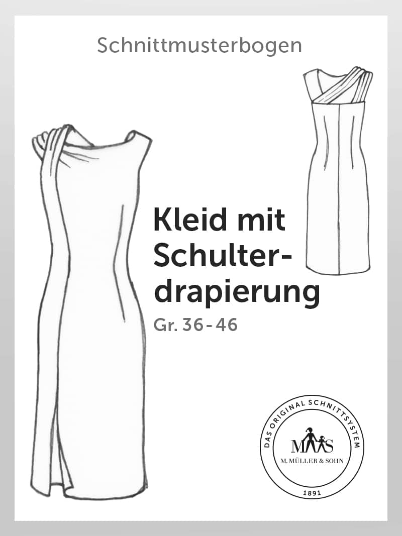 Produkt: Schnittmusterbogen Kleid mit Schulterdrapierung