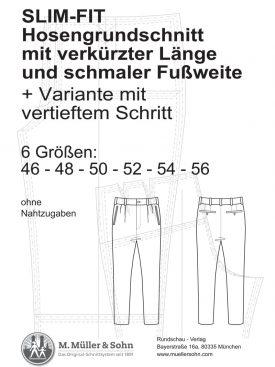 Produkt: SLIM-FIT Hosengrundschnitt mit verkürzter Länge und schmaler Fußweite