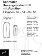Produkt: Schnittmuster Hosengrundschnitt – Bogen Nr. 6