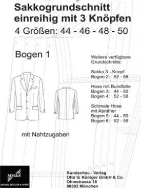 Produkt: Sakkogrundschnitt einreihig (44-50)