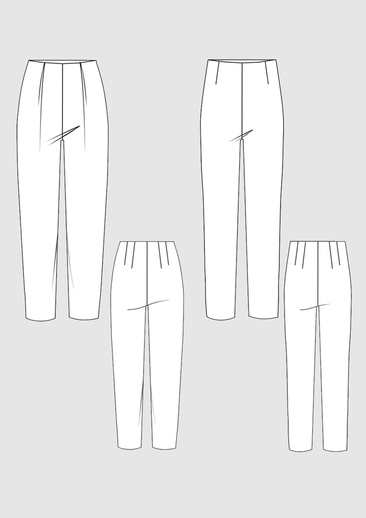 Produkt: Schnittmuster Grundschnitt Standardhose und Bundfaltenhose