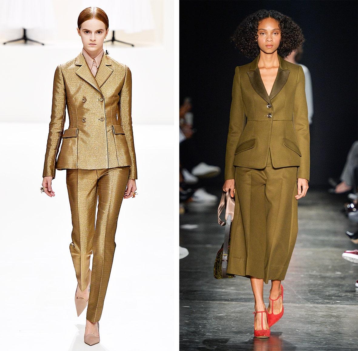 Das Foto zeigt Models auf dem Catwalk die Blazer tragen. Die Fotos dienen als Vorlage für den Schnitt auf dem Schnittmusterbogen