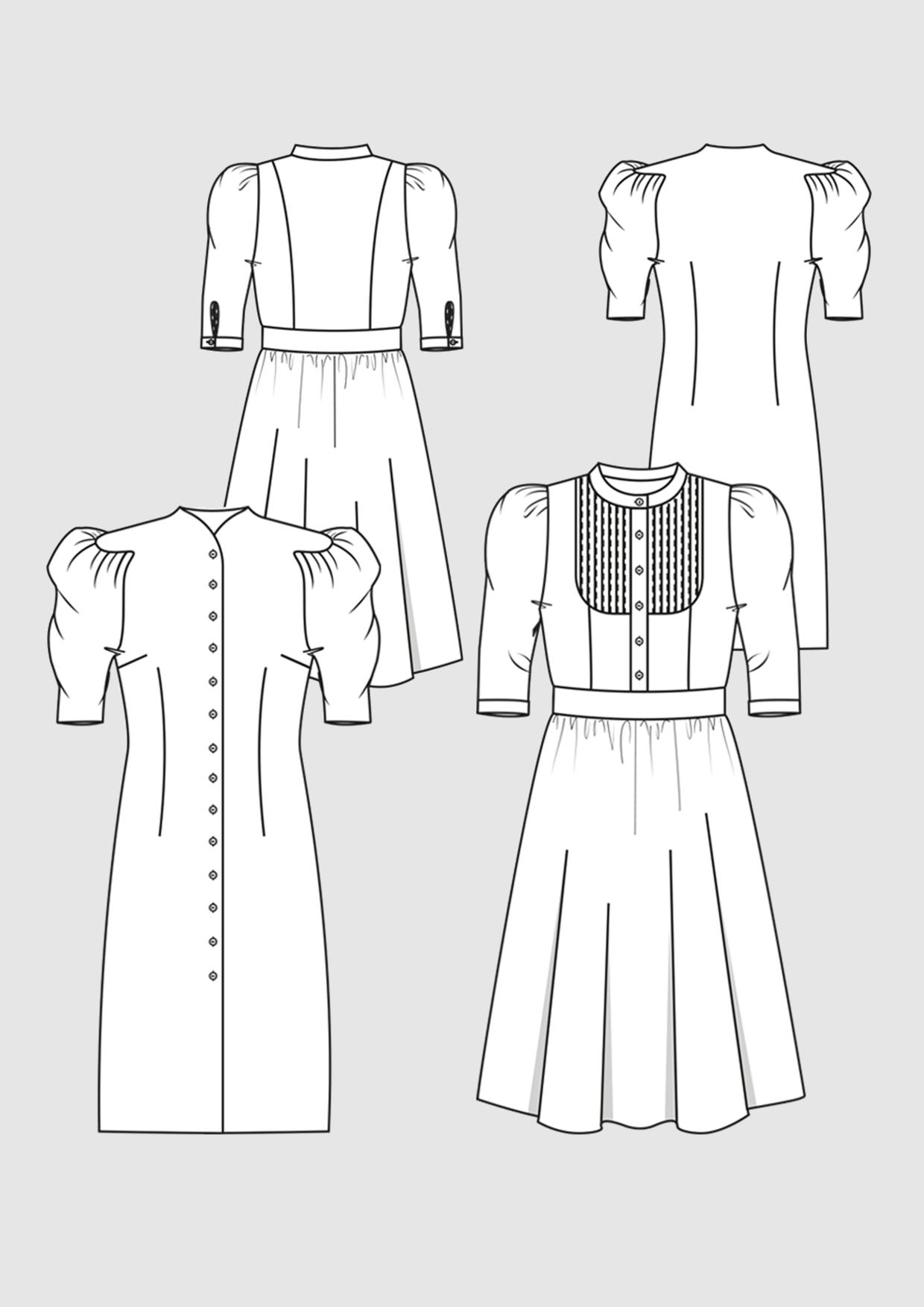 Produkt: Schnittmuster Kleider mit Puffärmel