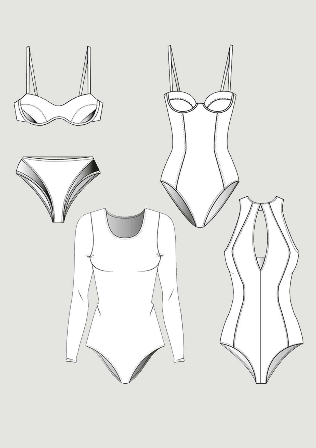 Produkt: Schnittmuster Bikini & Badeanzug