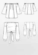 Produkt: Schnittmusterbogen Off-Shoulder Blusen