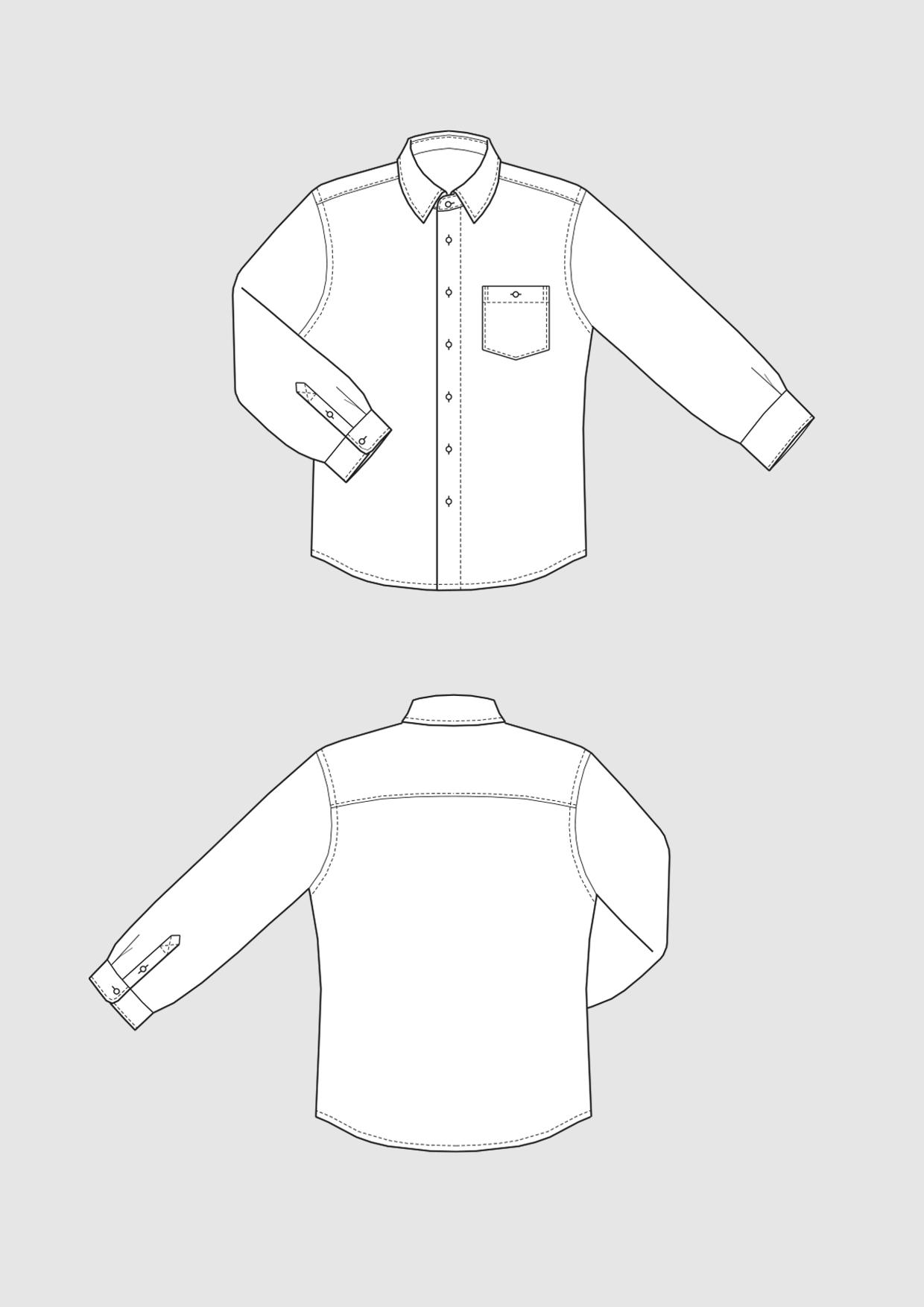 Produkt: Schnittmuster Regular Fit Hemd für Herren