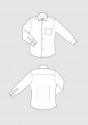 Produkt: Schnittmusterbogen SlimFit Hemd Herren