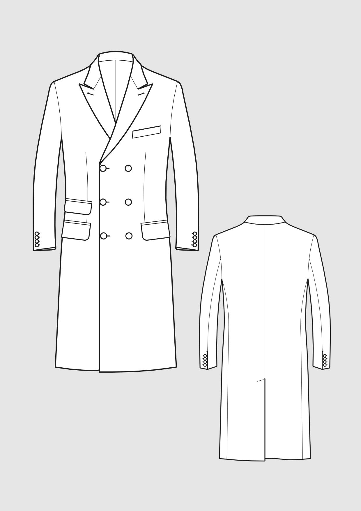 Produkt: Schnittmuster Paletot-Mantel für Herren