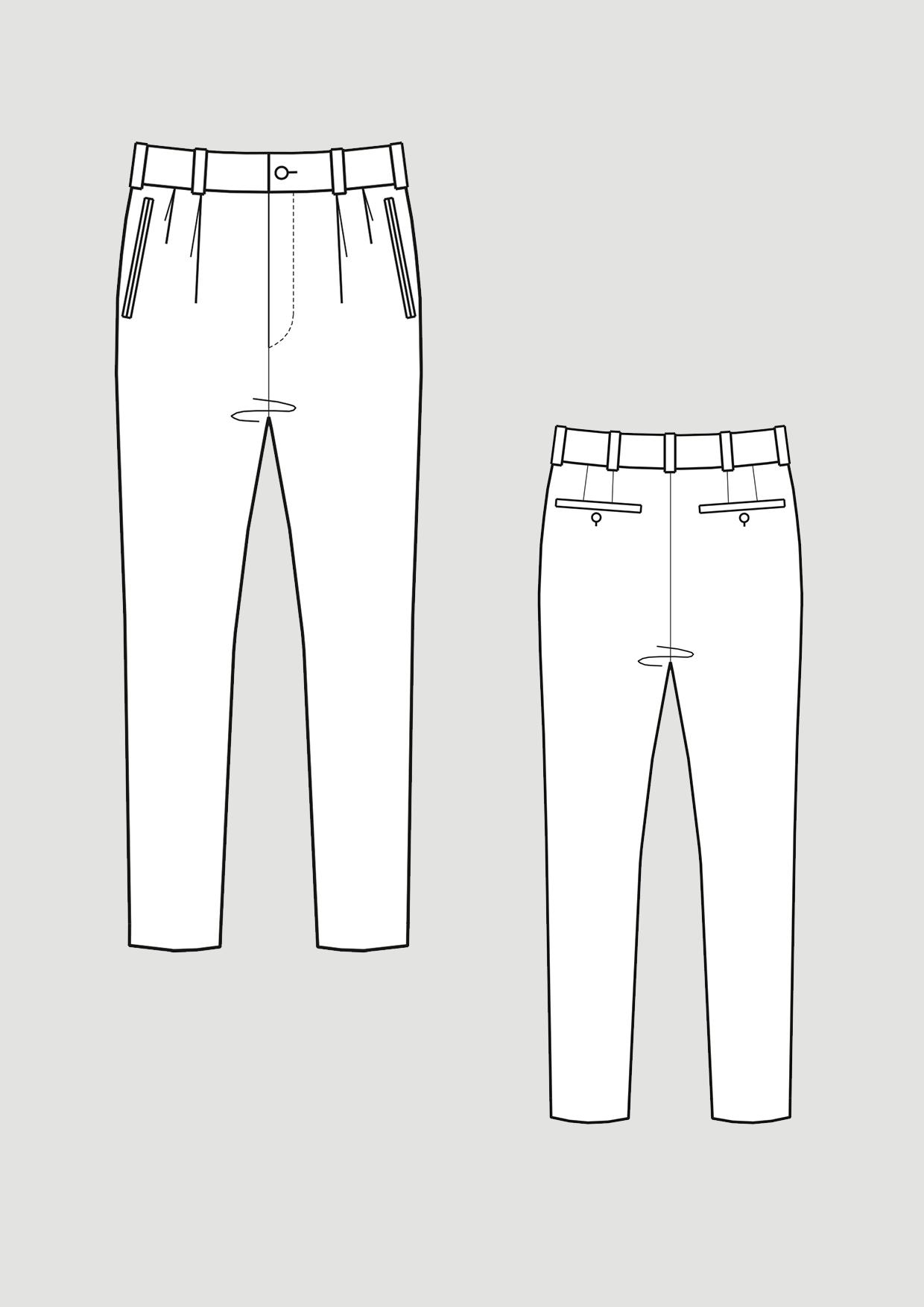 Produkt: Schnittmuster Slim Fit Hosengrundschnitt