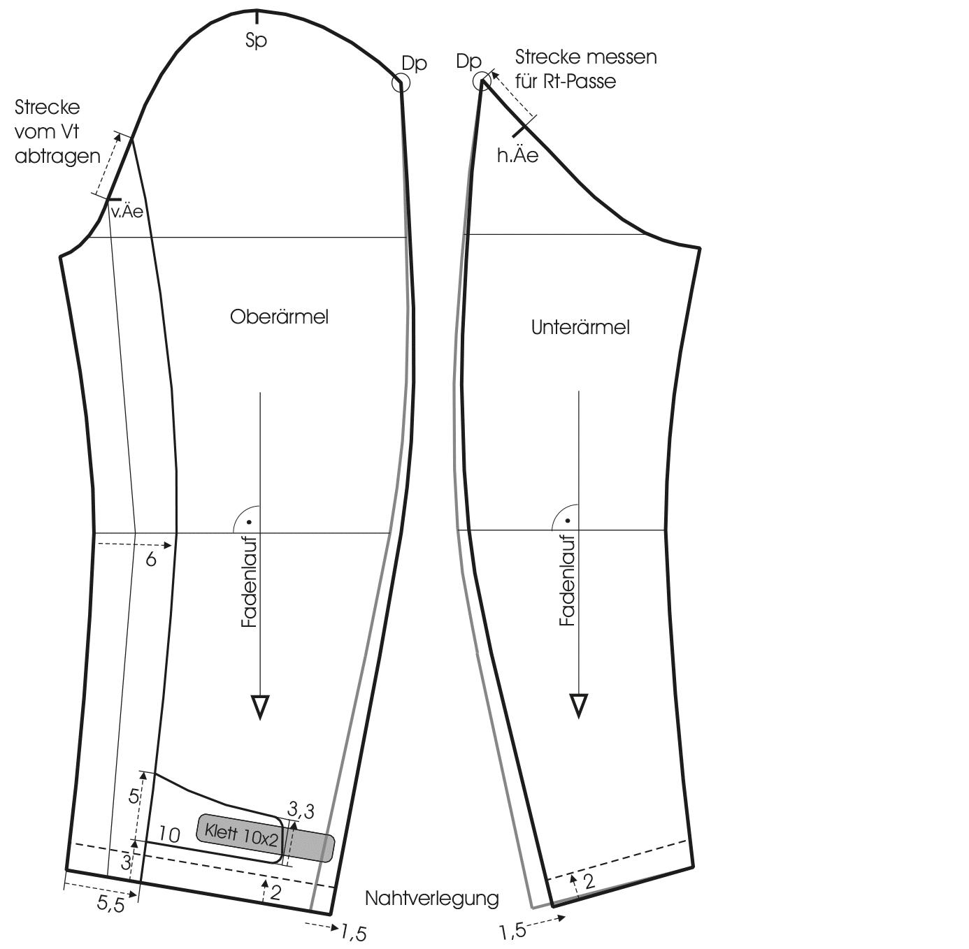 Ärmelschnitt von der Bomberjacke mit Stehkragen