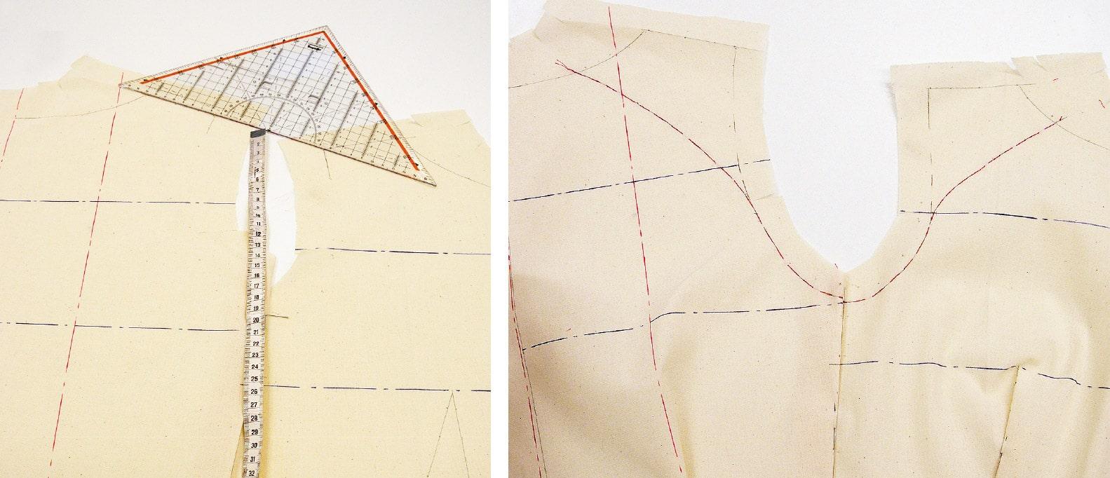 Kleid Drapage Tutorial Step 13-14