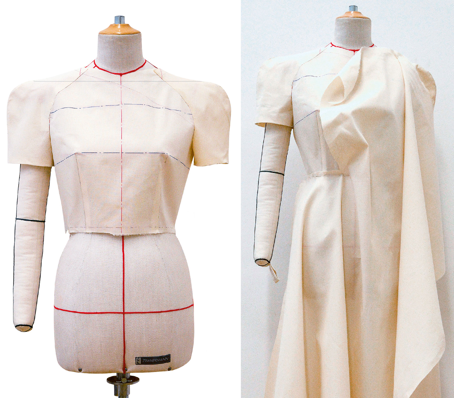 Kleid Drapage Tutorial Step 31-32
