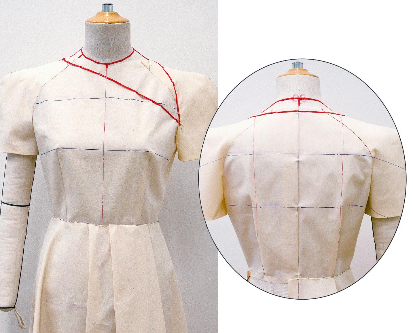 Kleid Drapage Tutorial Step 35-36