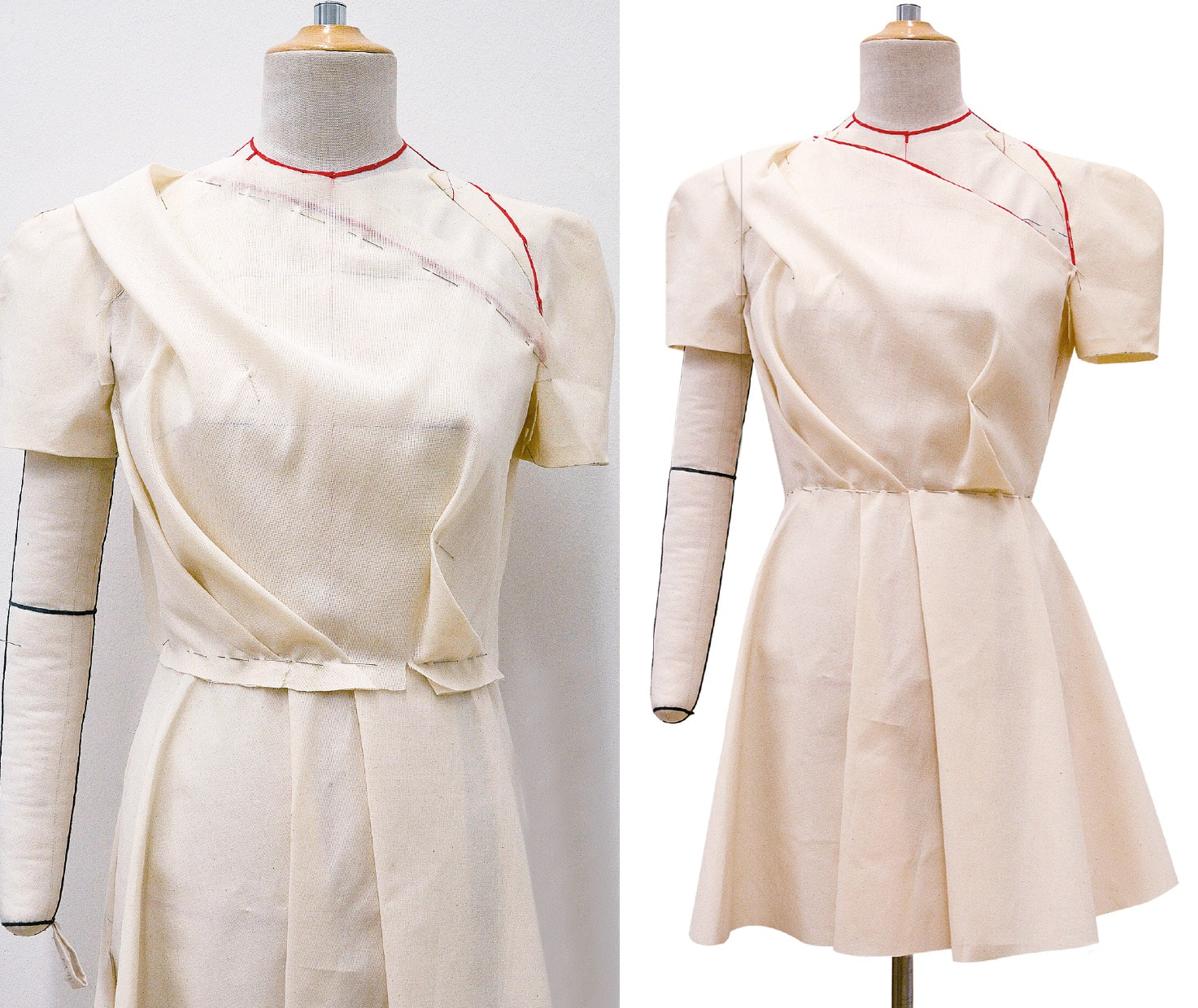 Kleid Drapage Tutorial Step 41-42