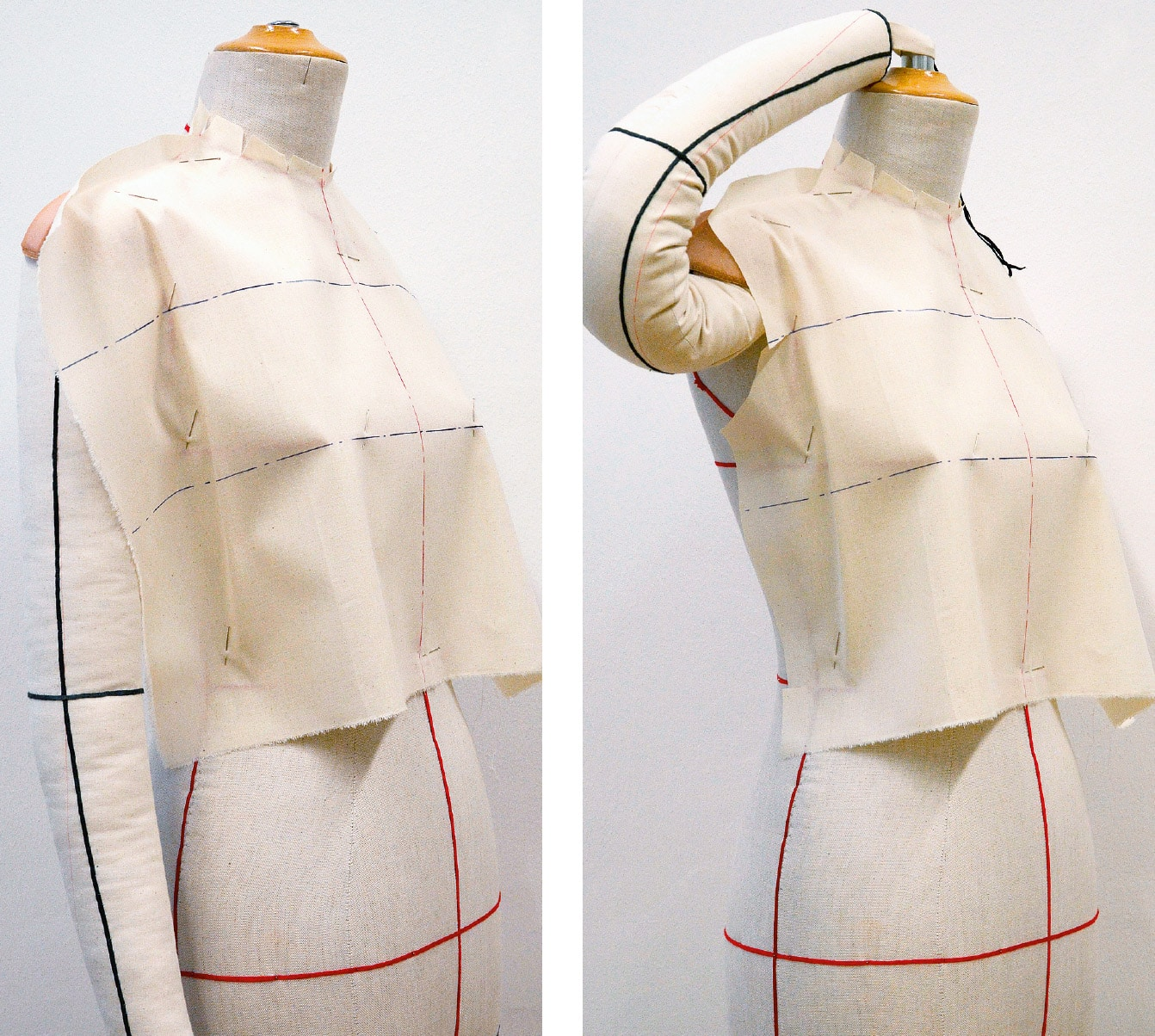 Kleid Drapage Tutorial Step 5-6