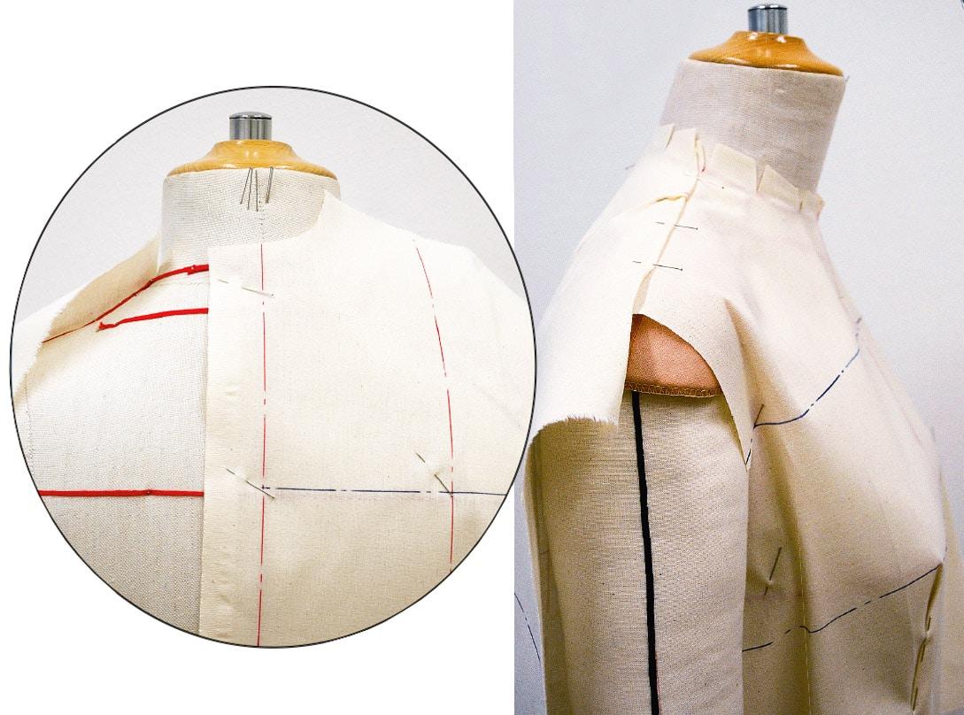Kleid Drapage Tutorial Step 9-10