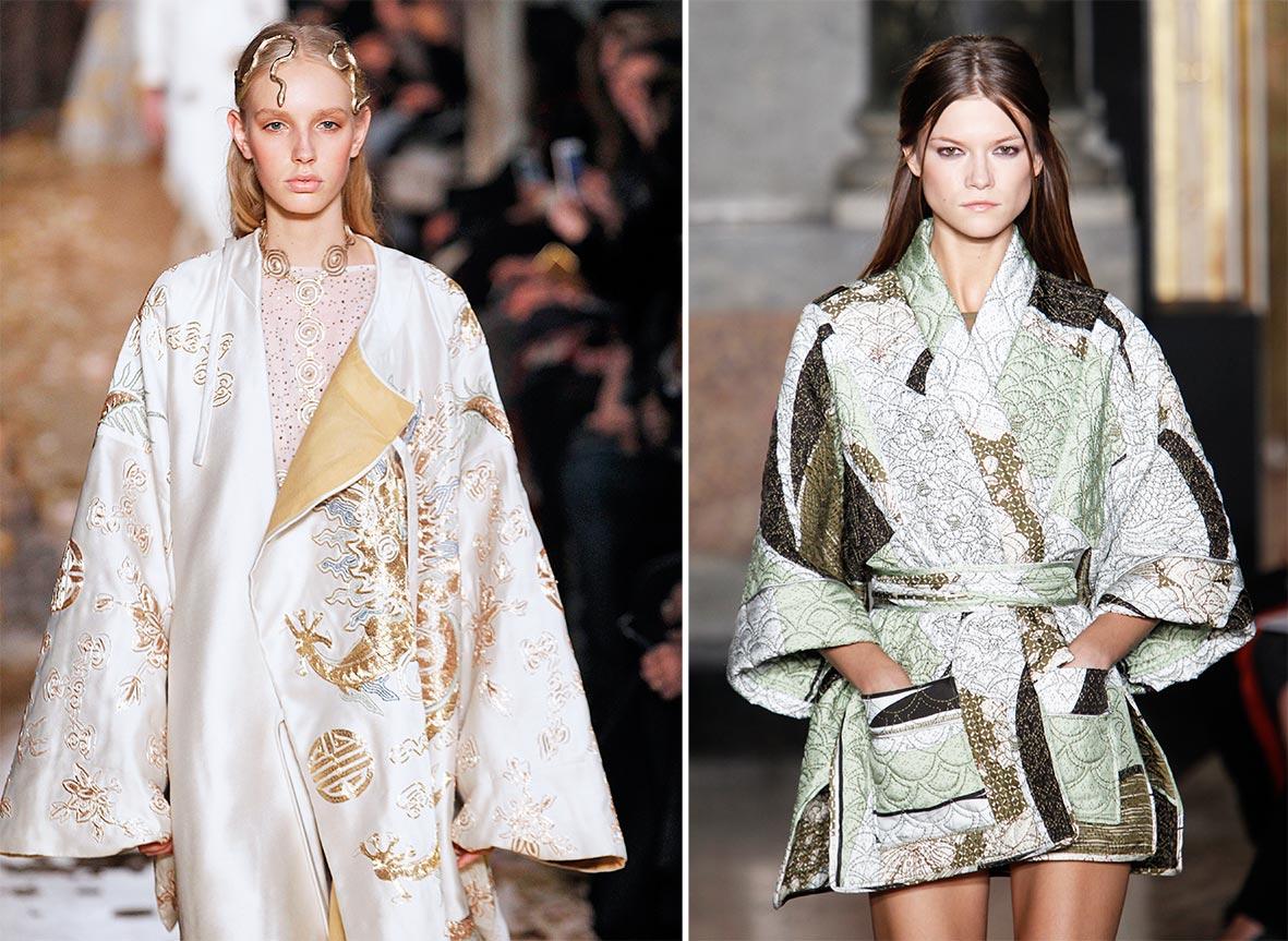 Kimono von Valentino und Pucci