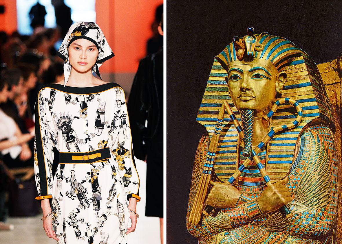 Vom Nemes-Kopftuch zum Hermès-Foulard