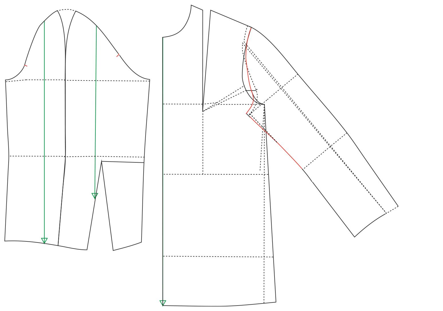 Erklärung zur Konstruktion einer Ärmelanlage bei einer Bluse