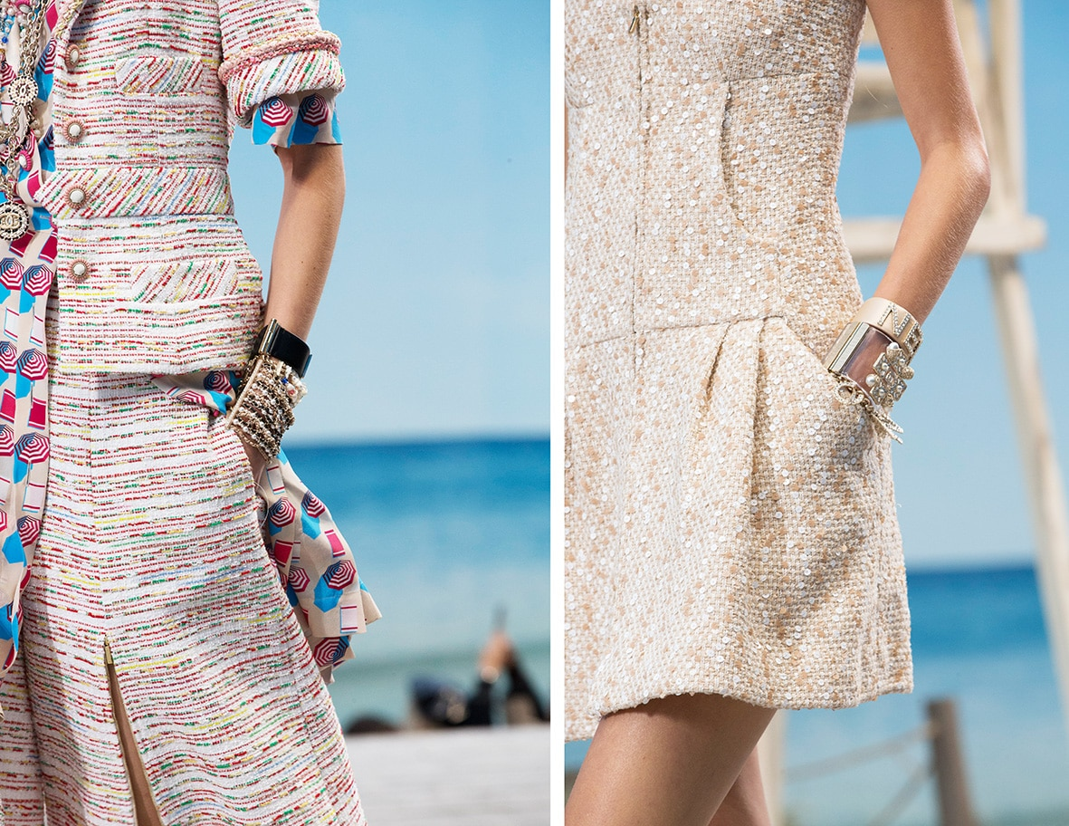 schräge Eingrifftaschen von Chanel