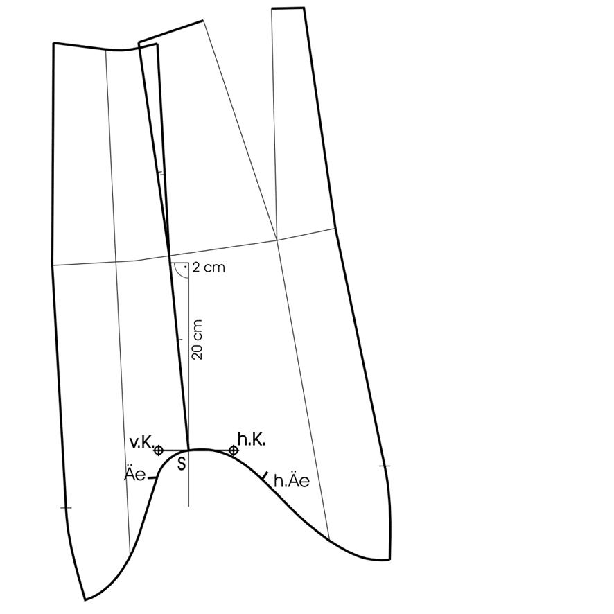 Schnittkonstruktion Tunika mit Kimonoärmel